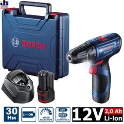 Аккумуляторная дрель-шуруповёрт BOSCH GSR 120-Li ( в чемодане, с аккумуляторами 2.0 Ah [06019G8000] - фото 85986