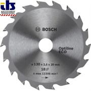 Диск для циркулярных ручных пил Bosch Optiline Eco 130-20(16) 18 [2608641781]