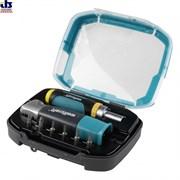 Насадка угловая для дрели и шуруповерта в комплекте (чемодан, держатель бит, 6 бит TX10/15/20/25 PZ2 PH2)
