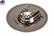 Полотно для вибрационной пилы PRO 80 мм по цементу, раствору, пористому бетону, в комплекте  переходное кольцо