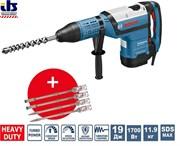 Перфоратор GBH 12-52 DV Professional BOSCH + 4 зубила RTec [0615990J8R]