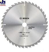 Диск пильный 305х30 мм 40 зуб. по дереву OPTILINE ECO WOOD BOSCH (твердоспл. зуб) (2608641798)