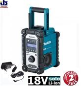 Радио аккумуляторное Makita DMR110 (7.2V-18V CXT/LXT Li-Ion DAB / DAB+ IP64 б\акк, блок питания)