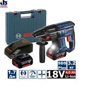 Перфоратор SDS-plus BOSCH GBH 180-LI (2.0Дж/2*4,0Ah) аккумуляторный (0611911121)