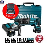 """Перфоратор SDS-plus Makita DHR241RFEA1 BL-motor аккум18В+18В + Набор насадок """"Makpac""""(B-53877) 17 шт."""