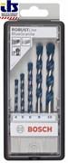 Bosch Набор из 5 свёрл по бетону Robust Line Blue Granite 4; 5; 6; 8; 10 mm 2607010523