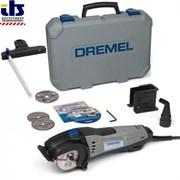 Компактная пила DREMEL® DSM 20-3/4  (3 приставки + 4 отрезных круга + чемодан + DVD)