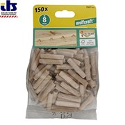 Wolfcraft деревянные шипы D 8х40 мм 150шт. (2907000)