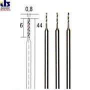 СВЕРЛО ТВЕРДОСПЛАВНОЕ 0,8 мм (3 шт) (хвостовик ø2,35мм. (28852)